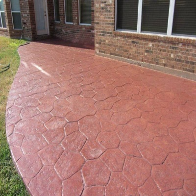 Colored Concrete Patio Installation - Concrete Patios - Northeast Harbor, Maine