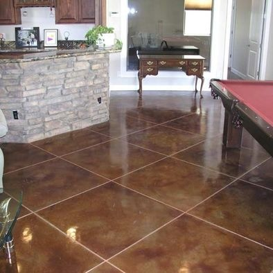 Concrete Basement Floor Staining