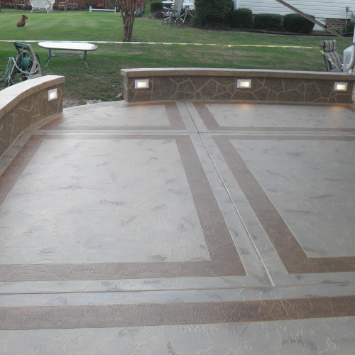 Cement Slab Patio - Concrete Patios - North Conway, New Hampshire